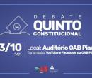 OAB Piauí promoverá debate com candidatos ao cargo de Desembargador do TJ-PI