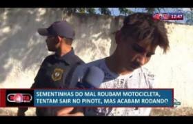 ROTA DO DIA 10 07  Bandidos roubam motocicletas mas acabam presos