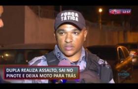 ROTA DO DIA 22 08  Dupla realiza assalto, na fuga deixa moto para trás