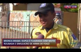 ROTA DO DIA 26 08  Dupla é flagrada com moto roubada e simulação de arma de fogo