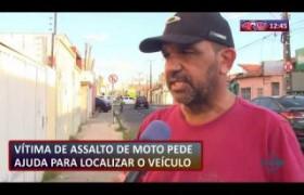 ROTA DO DIA 09 09  Vítima de assalto de moto pede ajuda para localizar o veículo