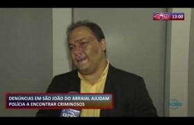 ROTA DO DIA 11 09  Denúncias em São João do Arraial ajudam polícia encontrar criminosos