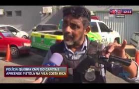 ROTA DO DIA 25 09  Polícia invade boca de fumo e apreende pistola na Vila Costa Rica