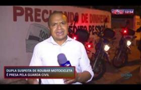 ROTA DO DIA 26 09  Dupla suspeita de roubar motocicleta é presa pela Guarda Civil