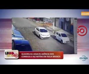 TV O Dia - BANDIDOS ASSALTAM AGÊNCIA DOS CORREIOS E FAZEM REFÉNS EM ÁGUA BRANCA