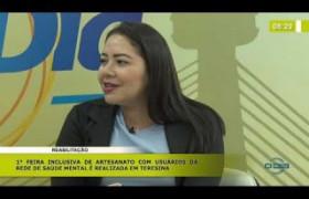 BOM DIA NEWS (31 10) LUANNA BUENO (FMS) - REABILITAÇÃO - 1ª FEIRA DE INCLUSIVA DE ARTESANATO