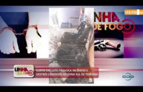 LINHA DE FOGO 01 10  Curto circuito provoca incêndio na zona sul de Teresina