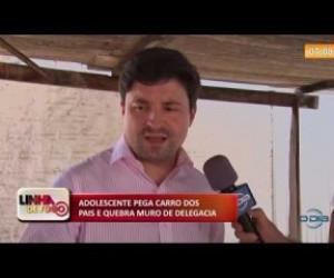 TV O Dia - LINHA DE FOGO 16 10 Adolescente com carro dos pais bate em muro da delegacia