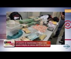 TV O Dia - LINHA DE FOGO 17 10 Estudante preso com maior porção de droga sintética no Piauí