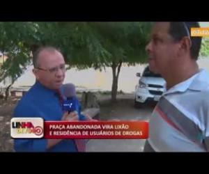 TV O Dia - LINHA DE FOGO 18 10  Praça abandonada vira lixão e residência de usuários de drogas