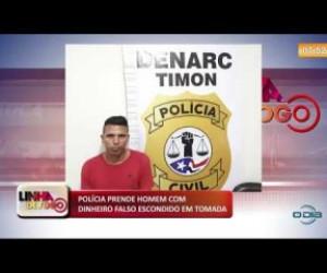 TV O Dia - LINHA DE FOGO 18 10 Preso homem com dinheiro falso escondido em tomada