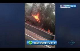 O DIA NEWS 01 10  Incêndio destrói quiosque em frente ao Shopping Riverside