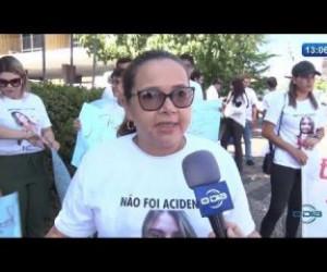 TV O Dia - O DIA NEWS 18 10  Protesto por justiça no caso do assassinato de Vanessa Carvalho