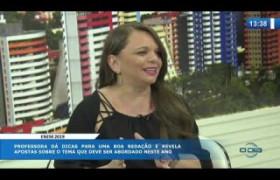 O DIA NEWS (24.10) PATRÍCIA LIMA (Professora de Redação) - prova de redação do ENEM