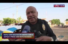 ROTA DO DIA 01 10  Assaltantes presos com moto roubada