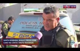 ROTA DO DIA 08 10  Santa Bárbara:  homem preso com revólver e moto roubada