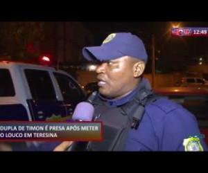 TV O Dia - ROTA DO DIA 18 10  Dupla de Timon é presa assaltando no bairro Vermelha, em Teresina