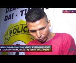 TV O Dia - ROTA DO DIA 18 10  Flagrado homem com munição e cédulas falsas