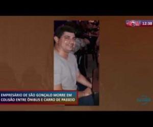 TV O Dia - ROTA DO DIA (21.10) Empresário morre em colisão entre ônibus e carro de passeio