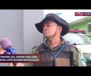 TV O Dia - ROTA DO DIA (23.10) Menor preso no Teresina Sul após roubar motocicleta