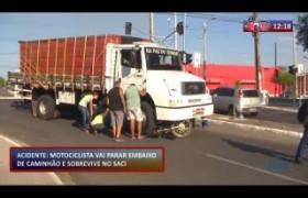 ROTA DO DIA (29.10) Motociclista vai parar embaixo de caminhão e sobrevive