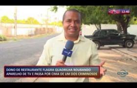 ROTA DO DIA (30.10.19) Dono de restaurante flagra roubo e passa por cima de um dos criminosos
