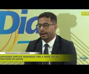 TV O Dia - BOM DIA NEWS 13 11 2019  Eduardo Tobler (Advogado espec. direito digital) - Privacidade