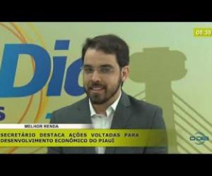 TV O Dia - BOM DIA NEWS 13 11 2019  Igor Nery (Sec. Desenv. Econômico) - Melhor renda