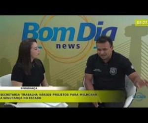 TV O Dia - BOM DIA NEWS 14 11 2019  Fábio Abreu (Sec. Est. Segurança) - Melhorias na segurança do Estado