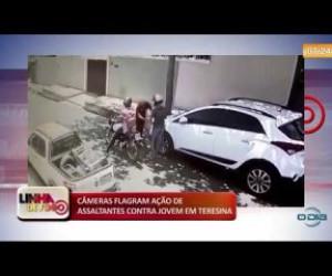TV O Dia - LINHA DE FOGO 13 11 2019 Câmeras flagram ação de assaltantes contra jovem em Teresina