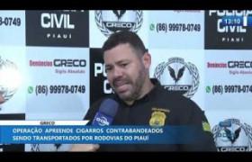 O DIA NEWS 13 11 2019  GRECO prende 4 pessoas por contrabando de cigarros