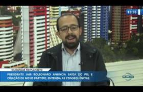 O DIA NEWS 13 11 2019  Márcio Carlomagno (cientista político) - Mudanças no Planalto