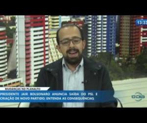 TV O Dia - O DIA NEWS 13 11 2019 Márcio Carlomagno (cientista político) - Mudanças no Planalto