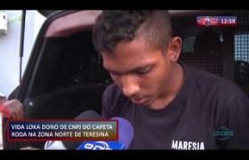 ROTA DO DIA (01.11.19) Suspeito de tráfico de drogas é preso na zona norte de Teresina