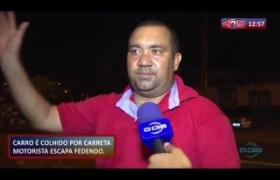 ROTA DO DIA 06.11  Carro é colhido por carreta e motorista escapa ileso