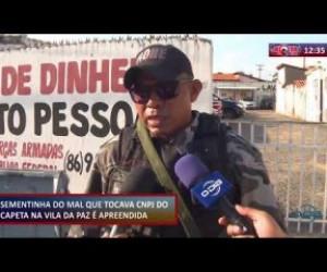 TV O Dia - ROTA DO DIA 12.11.2019 Menor apreendido traficando na Vila na Paz
