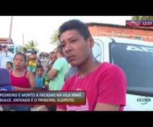TV O Dia - ROTA DO DIA 21 11 2019 Pedreiro é morto a facadas na Vila Irmã Dulce