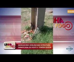 TV O Dia - LINHA DE FOGO 04 12 2019 Moradores denunciam estrutura danificada de poste