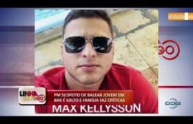 LINHA DE FOGO 04 12 2019  PM suspeito de balear jovem em bar é solto e família faz críticas