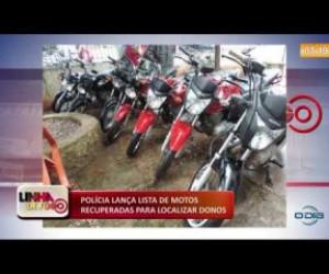 TV O Dia - LINHA DE FOGO 04 12 2019 Polícia lança lista de motos recupardas para localizar donos