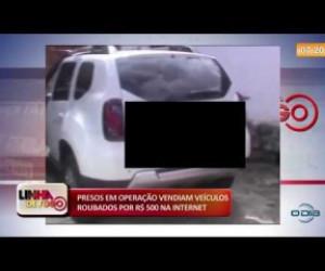 TV O Dia - LINHA DE FOGO 05 12 2019 Presos vendiam veículos roubados por R$ 500, na internet