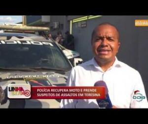 TV O Dia - LINHA DE FOGO (11 12) POLÍCIA RECUPERA MOTO E PRENDE SUSPEITOS DE ASSALTOS EM TERESINA