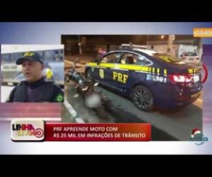 TV O Dia - LINHA DE FOGO (16 12) PRF APREENDE MOTO COM R$ 25 MIL EM INFRAÇÕES DE TRÂNSITO