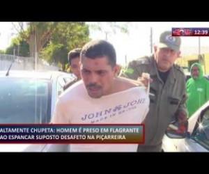 TV O Dia - ROTA DO DIA 09 12 2019 Homem preso em flagrante ao espancar suposto desafeto