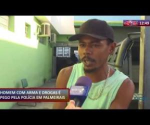 TV O Dia - ROTA DO DIA 09 12 2019 Polícia prende homem com arma e drogas em Palmeirais