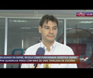 TV O Dia - ROTA DO DIA 12 12 2019  Delegado revela logística de quadrilha presa com cocaína