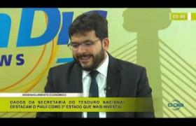 BOM DIA NEWS 13 01 2020  Rafael Fonteles (Sec. Fazenda do Piauí) - Desenvolvimento econômico