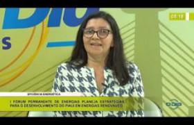 BOM DIA NEWS 15 01 2020  Liege Moura (Sup. do CEPRO) - Eficiência energética