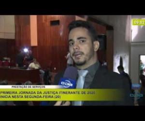 TV O Dia - BOM DIA NEWS 20 01 2020 Primeira Jornada da Justiça Itinerante de 2020