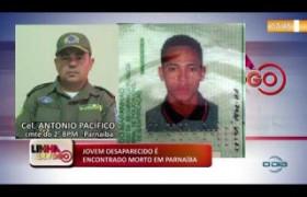 LINHA DE FOGO 03 01 2020 JOVEM DESAPARECIDO É ENCONTRADO MORTO EM PARNAÍBA